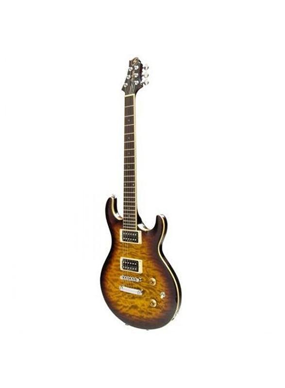 Samick UM-3 VS Greg Bennett Electric Guitar, Rosewood Fingerboard, Orange Sunburst