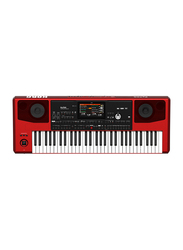 Korg Pa700-RD Professional Arranger Workstation Keyboard, 61 Keys, Red/White