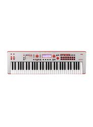 Korg Kross 2 Limited Edition Synthesizer Workstation Keyboard, 61 Keys, Grey/Red