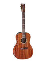 Takamine EF407 Acoustic Guitar with Case, Rosewood Fingerboard, Natural Beige