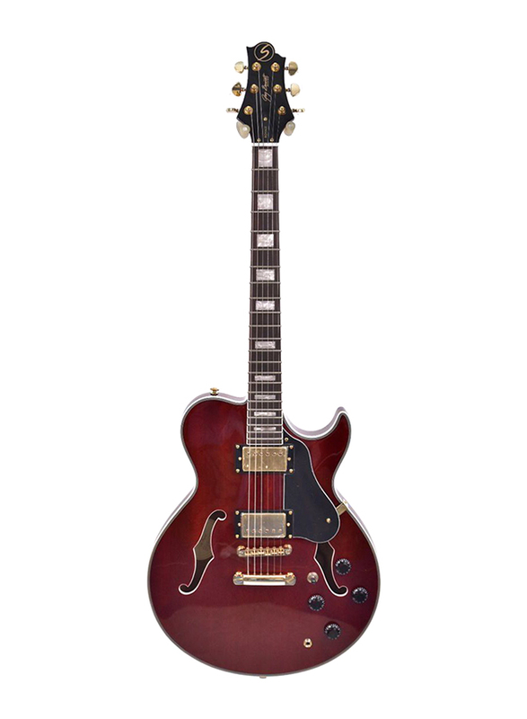 Samick RL-4 TR Greg Bennett Electric Guitar, Rosewood Fingerboard, Red