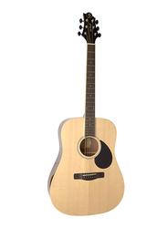 Samick D-2-NAT Greg Bennett Design Acoustic Guitar, Rosewood Fingerboard, Beige
