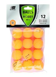 Sunflex Hobby 40+ Table Tennis Balls, 20807, 12 Pieces, Orange