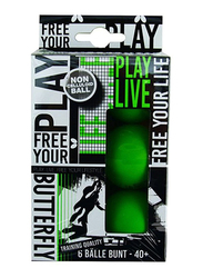 Butterfly Free Your Lifestyle Table Tennis Ball, 85215, 6-Piece, Green