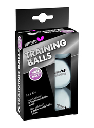 Butterfly Training Table Tennis Balls 85140, 6 Pieces, White