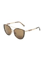 Chopard Full-Rim Cat Eye Silver Sunglasses for Women, Brown Lens, SCHC23, 52/21/135