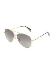 Police Full-Rim Aviator Gold Sunglasses for Women, Grey Lens, SPL835, 57/15/135
