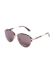 Police Full-Rim Aviator Gold Sunglasses for Women, Black Lens, SPL889G, 59/18/145
