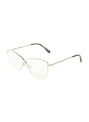 Tom Ford Full-Rim Butterfly Gold Eyeglasses Frame for Women, TF5518, 57/13/140