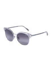 Chopard Full Rim Cat Eye Silver Sunglasses for Women, Grey Lens, SCHC24S, 57/17/140