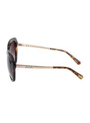 Chopard Full-Rim Butterfly Dark Havana Sunglasses for Women, Brown Lens, SCH259S, 57/18/135