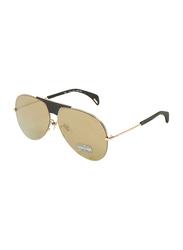 Police Full-Rim Aviator Gold Sunglasses for women, Gold Lens, SPL740, 62/11/140