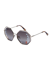 Chloe Full Rim Hexagonal Gold/Brown Sunglasses for Women, Brown Lens, CE132SRI, 58/20/140