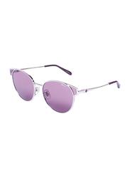 Chopard Full Rim Oval Silver Sunglasses for Women, Violet Purple Lens, SCHC21S, 56/17/135
