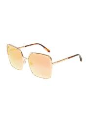 Chopard Full-Rim Square Gold Sunglasses for Women, Mirrored Gold Lens, SCHC78, 60/18/135