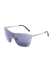 Chopard Full-Rim Shield Silver Sunglasses for Women, Black Lens, SCHC20S, 99/0/135