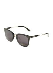 Tom Ford Full-Rim Cat Eye Black Sunglasses for Women, Black Lens, TF726-K, 66/15/145