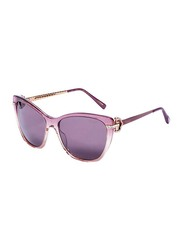 Chopard Polarized Full-Rim Cat Eye Purple Sunglasses for Women, Purple Lens, SCHS232S, 55/16/135