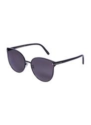 Tom Ford Full-Rim Cat Eye Black Sunglasses for Women, Black Lens, TF18-K, 62/18/145