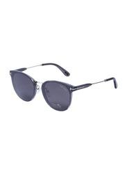 Tom Ford Full-Rim Cat Eye Black Sunglasses for Women, Mirrored Black Lens, TF725-K, 63/16/145