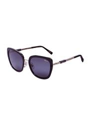 Chopard Full-Rim Cat Eye Gold Sunglasses for Women, Black Lens, SCHC22, 54/20/135