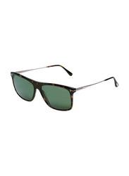 Tom Ford Polarized Full-Rim Square Havana Unisex Sunglasses, Green Lens, TF588, 57/15/145