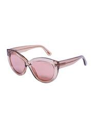 Tom Ford Full-Rim Cat Eye Brown Sunglasses for Women, Brown Lens, TF577, 56/19/140