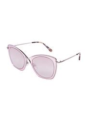 Tom Ford Full-Rim Cat Eye Silver Sunglasses for Women, Mirrored Brown Lens, TF605, 53/24/140