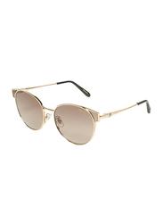 Chopard Full Rim Oval Gold Sunglasses for Women, Brown Lens, SCHC21S, 56/17/135