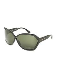 Tom Ford Full-Rim Butterfly Black Sunglasses for Women, Grey Lens, TF427, 62/11/115