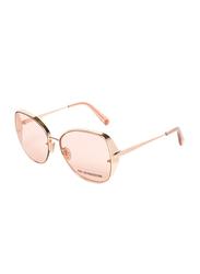 Roberto Cavalli Full-Rim Butterfly Gold Sunglasses for Women, Rose Gold Lens, RC1103, 60/16/140