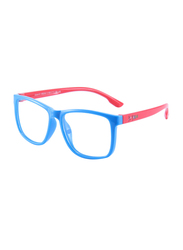 Atom Kids Full Rim Square Sunglasses for Kids, Clear Lens, AB202-3, 3-10 Years, Blue/Red