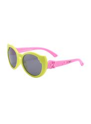 Atom Kids Polarized Full Rim Cat Eye Sunglasses for Girls, Grey Lens, K104-1, 3-10 Years, Yellow/Pink