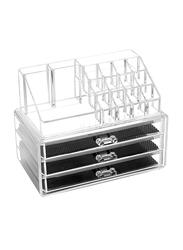 Goldedge 3-Drawer Storage Case, Clear