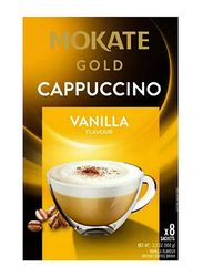 Mokate Gold Cappuccino Vanilla Flavour Coffee, 8 Sachet x 12.5g