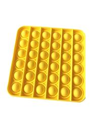 Xiuwoo Square Push Pop Bubble Sensory Fidget Toy, Yellow