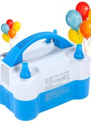 Portable Electric Air Balloon Pump, White/Blue, Ages 3+
