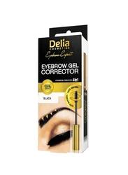 Delia 4 in 1 Eyebrow Gel Corrector, Black