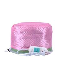 Electric Hair Steamer SPA Cap, Pink/White