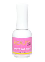 Beauty Palm Matte Top Coat Gel Polish, 18ml, Clear