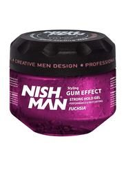 Nish Man Gum Effect Fuchsia Hair Styling Gel for All Hair Types, 300ml