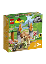 Lego 10939 DUPLO Jurassic World T. rex and Triceratops Dinosaur Breakout Toy, 36 Pieces, Ages 2+