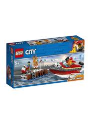 Lego 60213 Dock Side Fire Building Set, 97 Pieces, Ages 5+
