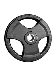 Rubber Solid Olympic Barbell Weight Plate, 5KG, Black