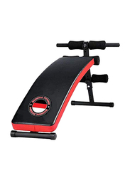 Marshal Fitness Adjustable Sit-Up Workout Bench for Stomach Exercise, MFLI-1531, Red/Black