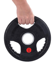 Redsun Premium Quality Rubber Coated Olympic Weight Plate, 5KG, Black