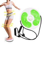 RLP Ab Twister Board with 8 Magnets Fitness Twister, Handles Trims Waist Arms Hips and Thighs, Green