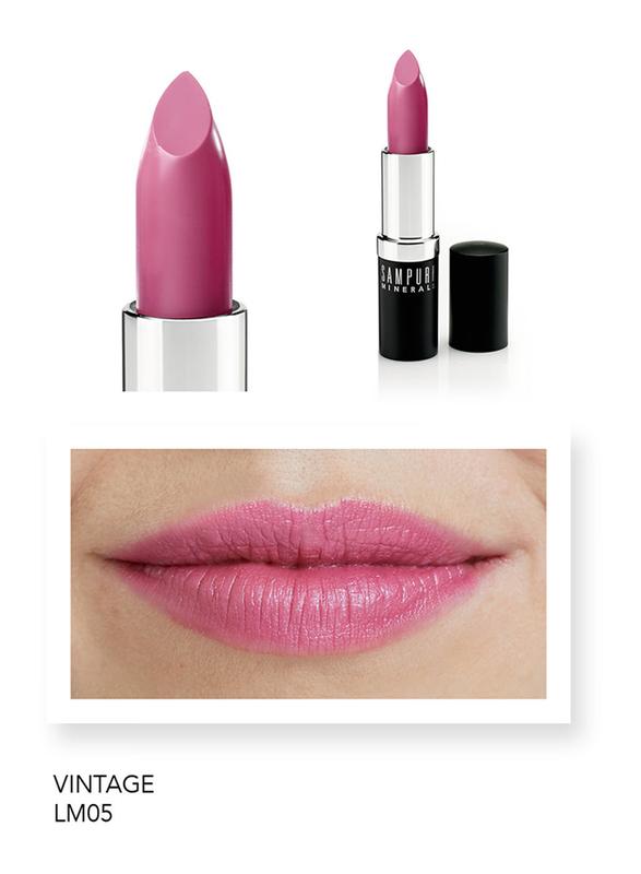 Sampure Minerals Matte Lipstick, 4gm, Vintage, Pink