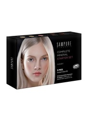 Sampure Minerals Complete Mineral Starter Face Makeup Set, 5-Pieces, 16gm, Ivory, Multicolour