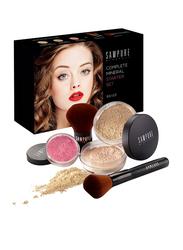 Sampure Minerals Complete Mineral Starter Face Makeup Set, 5-Pieces, 16gm, Beige, Multicolour